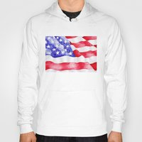 american flag Hoodies featuring American Flag by Bridget Davidson