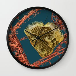 heart in a cage fractal Wall Clock