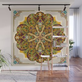 Mandala Sacred Rams - Bright Version Wall Mural