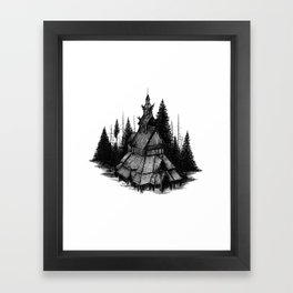 Fantoft Stave Church Framed Art Print