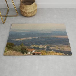 Sunset Italian countryside landscape view Rug
