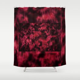 Claret stained texture abstract Shower Curtain