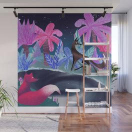 foxes in the Jungle Wall Mural