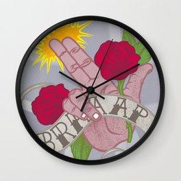 Brrrrrrrap! Wall Clock