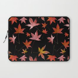 Dead Leaves over Black Laptop Sleeve