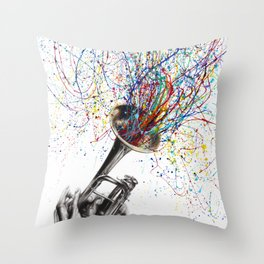 Soul of Sound Throw Pillow