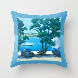 Of Boats and Summer Throw Pillow