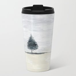 Lone tree in desert Travel Mug