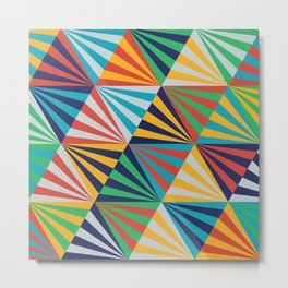 Color Triangles - Basic Metal Print