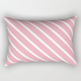 Peach Pink Diagonal Stripes Rectangular Pillow
