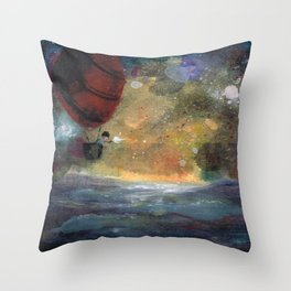 Caught in a Gust Throw Pillow