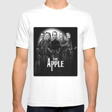 The Apple Band Mens Fitted Tee White MEDIUM
