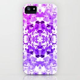 Floral Print - Magenta & Purple iPhone Case