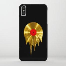 Melting vinyl GOLD / 3D render of gold vinyl record melting iPhone Case