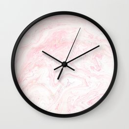 Pink Rose Gold Marble Print Wall Clock