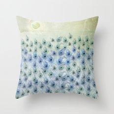 Peacock Sea Throw Pillow