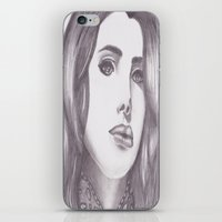 celebrity iPhone & iPod Skins featuring Celebrity Portrait by N. Rogers Fine Art