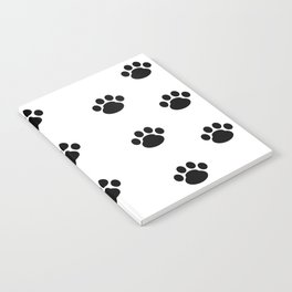 Puppy Dog Paw Prints Notebook