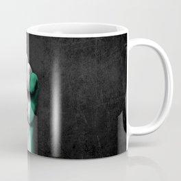Nigerian Flag on a Raised Clenched Fist Coffee Mug