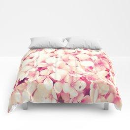 Rose Pink Flowers (Hydrangea) Comforters