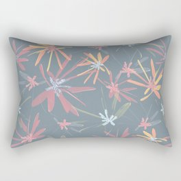 Abstract colorful flowers Rectangular Pillow