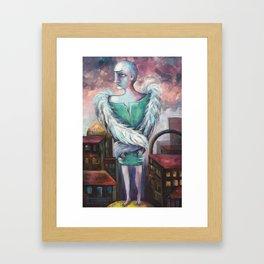 UNEMPLOYED ANGEL Framed Art Print