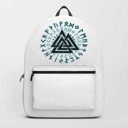 Valknut   Viking Warrior Symbol Triangle Backpack