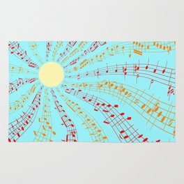 Music Brightens the World Rug