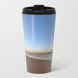 Golden Hour by the Seashore Travel Mug