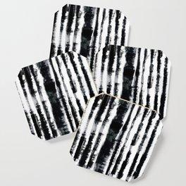 Tie-Dye Shibori Stripe BW Coaster