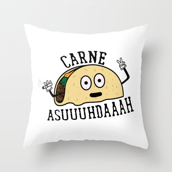 Carne Asuuuhdaaah Throw Pillow