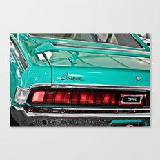 1970 Teal Blue Mercury Cougar  Canvas Print
