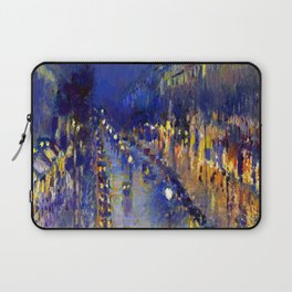 Pissarro Montmartre Boulevard Night Laptop Sleeve