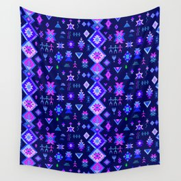 KILIM NO. 6 IN ELECTRIC ORCHID Wall Tapestry