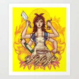 Cooking Goddess Art Print