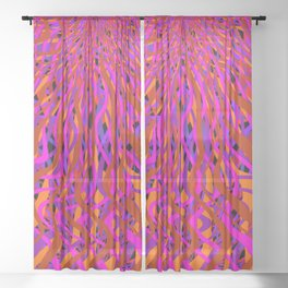 rise and fall Sheer Curtain