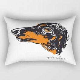 Zoe the datchshound Rectangular Pillow