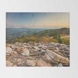 Spruce Knob Mountain Sunset Throw Blanket