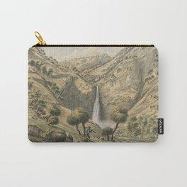 Fall of the First Creek, near Glen Osmond, South Australia by Eu von Guerard Date 1867  Romanticism Carry-All Pouch