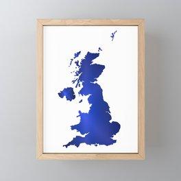 United Kingdom Map silhouette Framed Mini Art Print