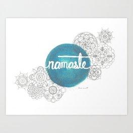 Namaste Mandala  Art Print