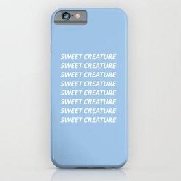 HARRY STYLES SWEET CREATURE TEXT iPhone Case