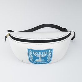 emblem of Israel 1-יִשְׂרָאֵל ,israeli,Herzl,Jerusalem,Hebrew,Judaism,jew,David,Salomon. Fanny Pack