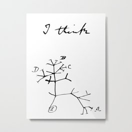 Darwin - Tree of Life - I Think Metal Print
