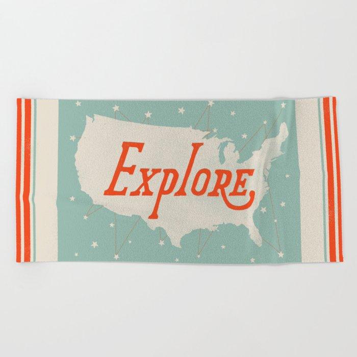 Explore Beach Towel
