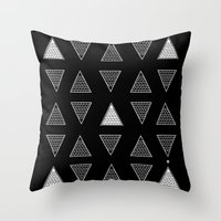 triangle Throw Pillows featuring Triangle by Emmanuelle Ly