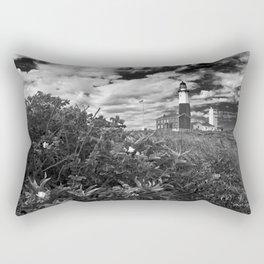 "Montauk Point Lighthouse ""The end"" Rectangular Pillow"