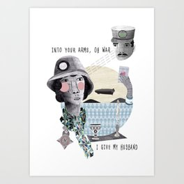 In the arms of war Art Print