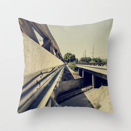 Summer Bridge Throw Pillow