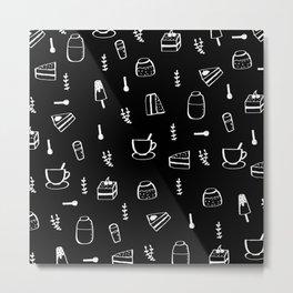 The Café Metal Print